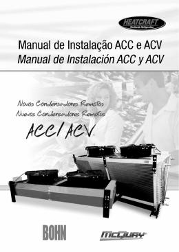 Manual de Instalação ACC e ACV Manual de Instalación ACC y ACV