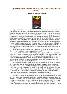 1 MISTERIOSAS LIGAÇÕES ENTRE SOCIALISMO, SIONISMO, SA