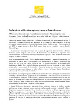 Declaração Declaração da política sobre política sobre política