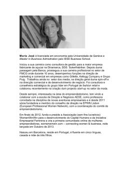 Maria José é licenciada em enconomia pela Universidade de