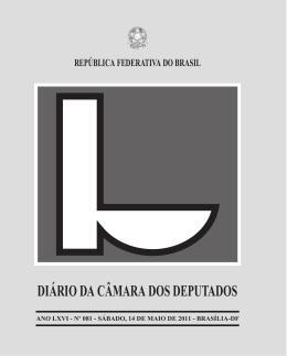 DIÁRIO DA CÂMARA DOS DEPUTADOS