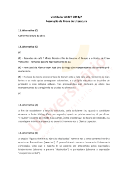 Vestibular ACAFE 2013/2 | Resolução da Prova de Literatura