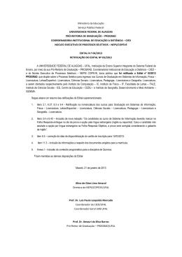 Ministério da Educação Serviço Público Federal