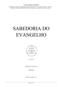 SABEDORIA DO EVANGELHO