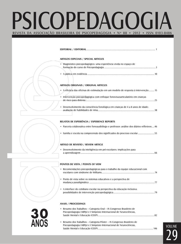 e83af74c0bd VOLUME - Revista Psicopedagogia