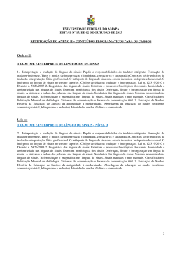 UNIVERSIDADE FEDERAL DO AMAPÁ EDITAL Nº