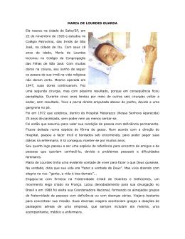 Maria de Lourdes Guarda - Centro de Referências Faster