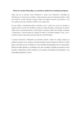 Maria de Lourdes Pintassilgo e as estruturas culturais da