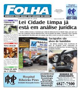 Edição: 1428 De - Folha Ribeirão Pires