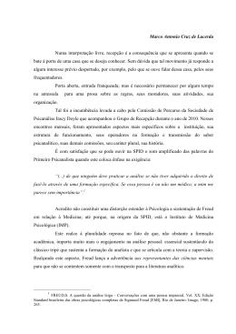 Marco Antonio Cruz de Lacerda Numa interpretação livre