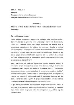 EMEJA – Módulo 4 Filosofia Professor: Marco Antonio