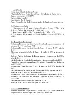 Luiz Eduardo de Castro Neves Filiação: Roberto de Castro Neves