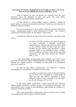 Lei Maria da Penha: Harmonização entre os arts. 16 e 41 em
