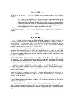 PROJETO DE LEI JUSTIFICATIVA.