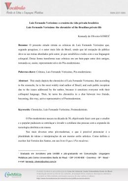 Luis Fernando Veríssimo: o cronista da vida