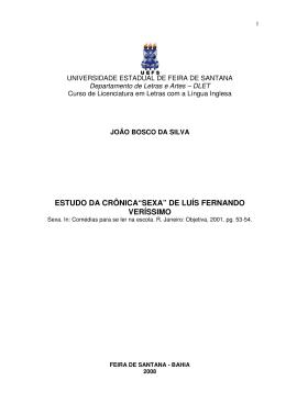 """ESTUDO DA CRÔNICA""""SEXA"""" DE LUÍS FERNANDO VERÍSSIMO"""
