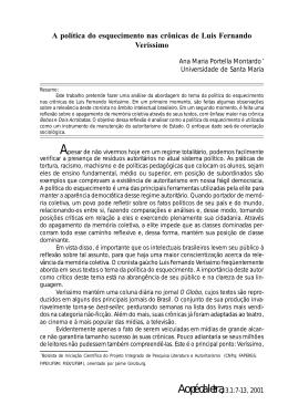 A política do esquecimento nas crônicas de Luis Fernando Veríssimo