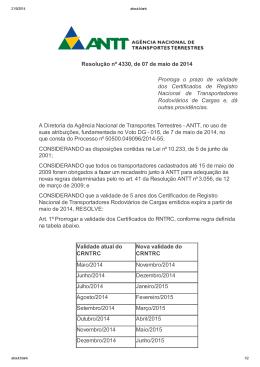 Resolução nº 4330, de 07 de maio de 2014