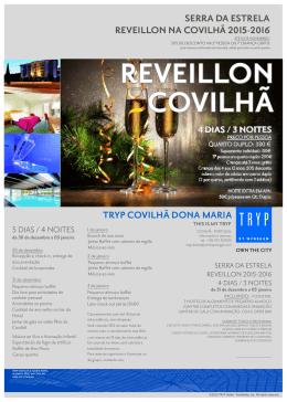 tryp covilhã dona maria serra da estrela reveillon na covilhã 2015