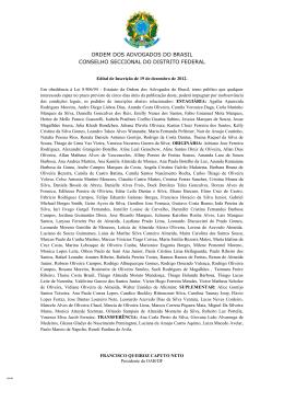 Edital de Inscrição 19/12/2012