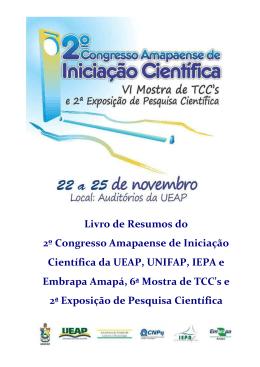 Livro de Resumos do 2º Congresso Amapaense de Iniciação