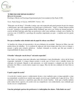 entrevista sobre educação dos filhos - 04/02/07 - vitória -es