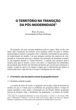 Texto 02 - Território e Pós-modernidade