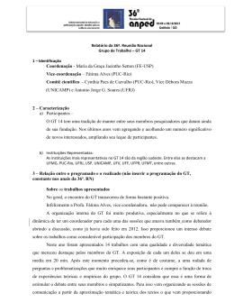 Coordenação - Maria da Graça Jacintho Setton (FE