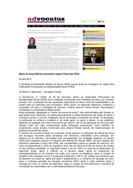 Maria da Graça Martins apresenta regime fiscal das IPSS 22