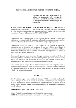 RESOLUÇÃO AGERBA Nº 33, DE 18 DE SETEMBRO DE 2015