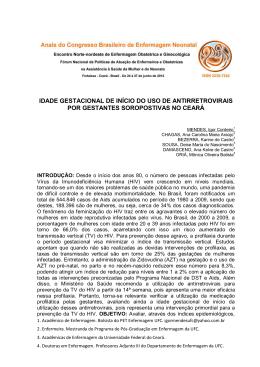 IDADE GESTACIONAL DE INÍCIO DO USO DE - Abenfo-CE