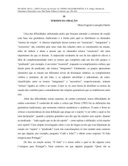 10 TERMOS DA ORAÇÃO Maria Eugenia Lamoglia Duarte Uma