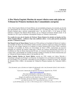 A Dra Maria Eugénia Martins de nazaré ribeiro nom eada