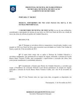 (Portaria 186 - RELOTAÇÃO SERVIDORES NEI LUIZ PAULO DA