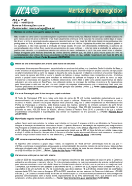 Ano V, Nº 28 12/07 – 16/07/2010 Maiores informações com o