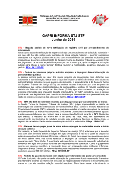 GAPRI INFORMA STJ STF Junho de 2014
