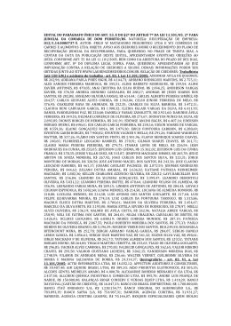 edital do parágrafo único do art 53 e do §2º do artigo 7º da lei 11