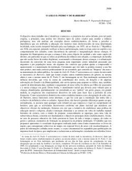 O ASILO D. PEDRO V DO BARREIRO1 Maria Manuela P