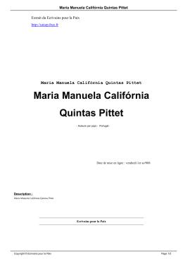 Maria Manuela Califórnia Quintas Pittet