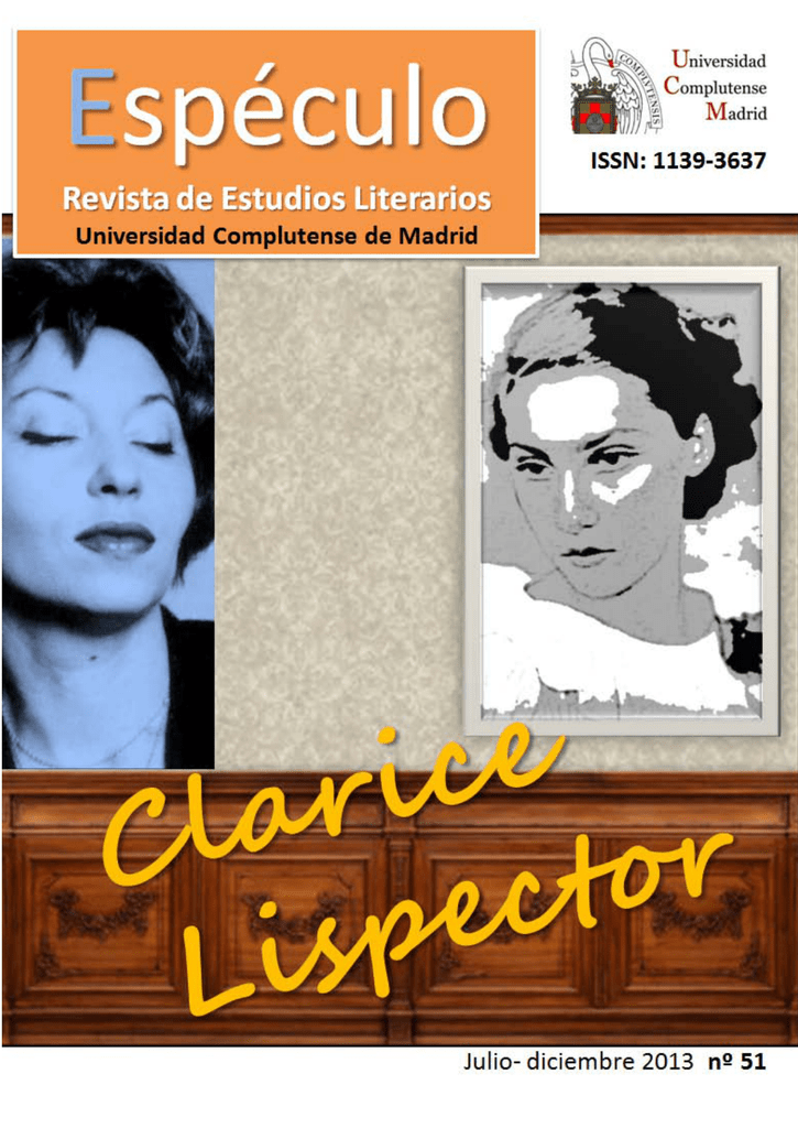 Clarice lispector universidad complutense de madrid fandeluxe Image collections
