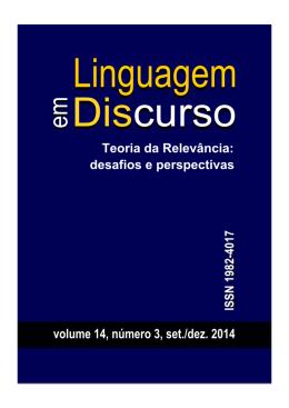 Linguagem em (Dis)curso, v. 14, n. 3 - Programa de Pós