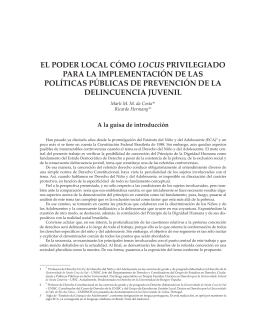 El poder local como locus privilegiado para la implementacion de