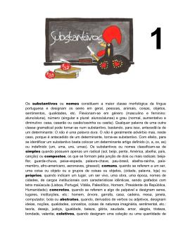 substantivos - Teia da Língua Portuguesa