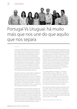 Portugal Vs Uruguai: há muito mais que nos une do que aquilo que