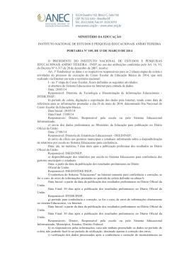portaria nº 105, de 13 de março de 2014