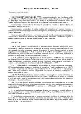 DECRETO Nº 995, DE 27 DE MARÇO DE 2014