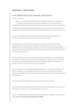 Legislação – Mato Grosso