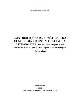 contribuições da fonética e da fonologia ao ensino