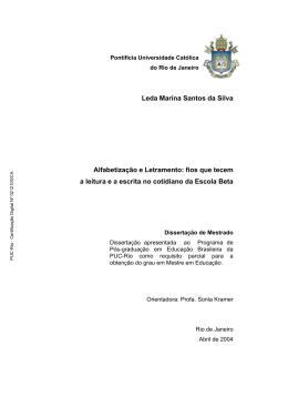 Leda Marina Santos da Silva Alfabetização e Letramento