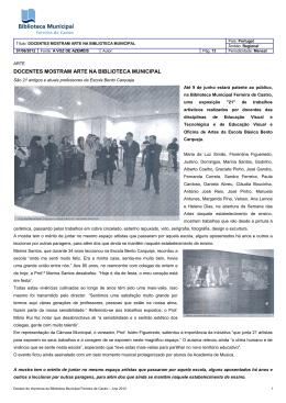 DOCENTES MOSTRAM ARTE NA BIBLIOTECA MUNICIPAL